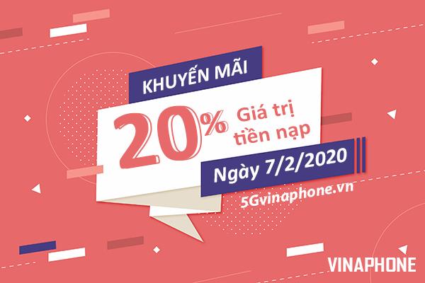 Thông tin chi tiết về chương trình khuyến mãi Vinaphone ngày 7/2/2020