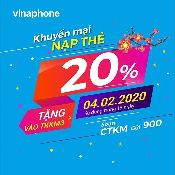 Vinaphone khuyến mãi ngày 4/2/2020 ưu đãi cho  TB may mắn