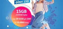 Đăng ký gói cước D15G Vinaphone ưu đãi 500MB data/ngày (15GB/tháng)
