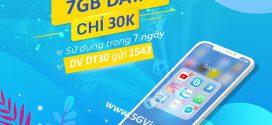 Đăng ký gói cước DT30 Vinaphone nhận 7GB data dùng 7 ngày chỉ 30.000đ