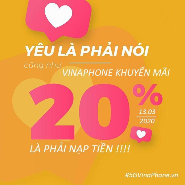 Khuyến mãi của Vinaphone ngày 13/3/2020 ưu đãi ngày vàng toàn quốc