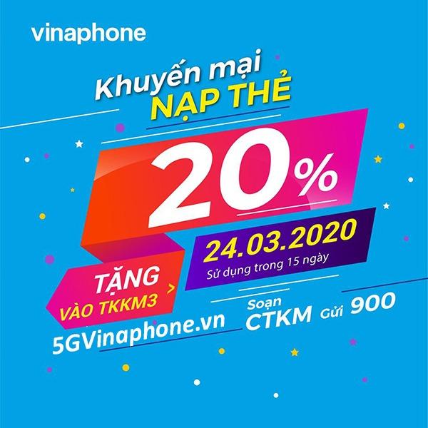 Thông tin chi tiết chương trình khuyến mãi Vinaphone ngày 24/3/2020