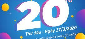 Khuyến mãi Vinaphone ngày 27/3/2020 tặng 20% giá trị tiền nạp toàn quốc