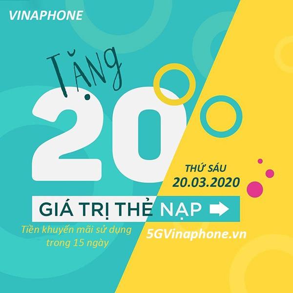 Thông tin chi tiết về chương trình Vinaphone khuyến mãi ngày 20/3/2020