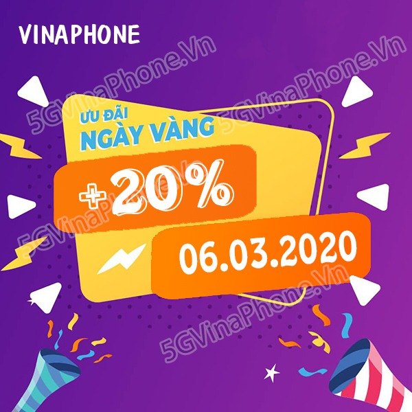 Thông tin chi tiết về chương trình Vinaphone khuyến mãi ngày 6/3/2020