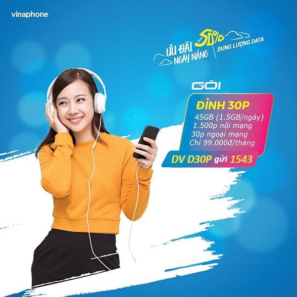 Hướng dẫn cách đăng ký gói cước DP30 Vinaphone