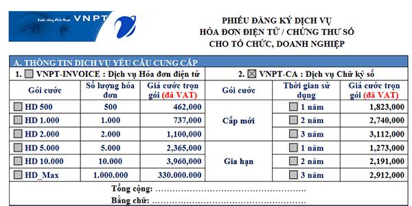 Hướng dẫn cách đăng ký hóa đơn điện tử của VNPT