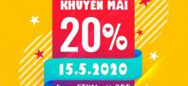 Khuyến mãi Vinaphone ngày 15/5/2020 tặng 20% giá trị nạp tiền/ nạp thẻ