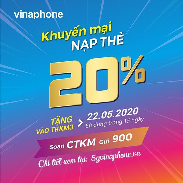 Thông tin chi tiết về chương trình khuyến mãi Vinaphone ngày 22/5/2020