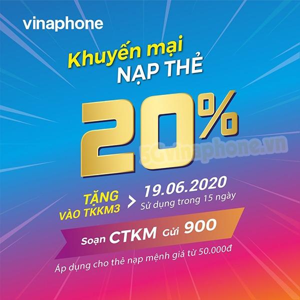 Vinaphone khuyến mãi ngày 19/6/2020 ưu đãi ngày vàng toàn quốc