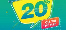 Khuyến mãi Vinaphone ngày 10/7/2020 ưu đãi 20% tiền nạp toàn quốc