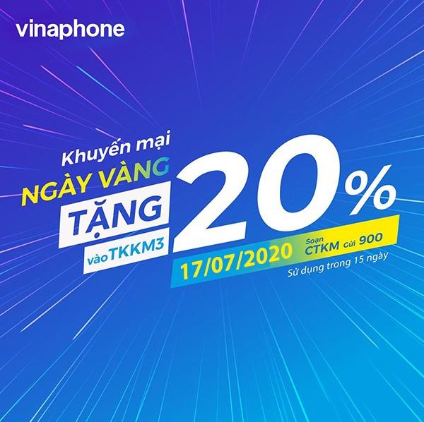 Thông tin chi tiết chương trình khuyến mãi Vinaphone ngày 17/7/2020