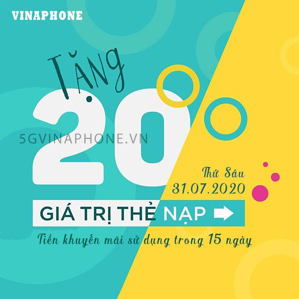 thông tin chi tiết chương trình khuyến mãi Vinaphone ngày 31/7/2020