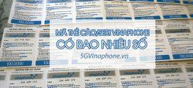 Mã thẻ cào Vinaphone có bao nhiêu số cho mệnh giá 10k, 20k, 50k, 100k, 200k