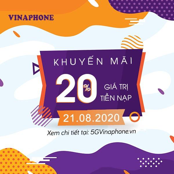 Thông tin chi tiết chương trình Vinaphone khuyến mãi ngày 21/8/2020