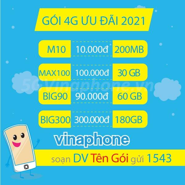 Đăng ký 4G Vinaphone theo tháng, theo năm nhận data hấp dẫn