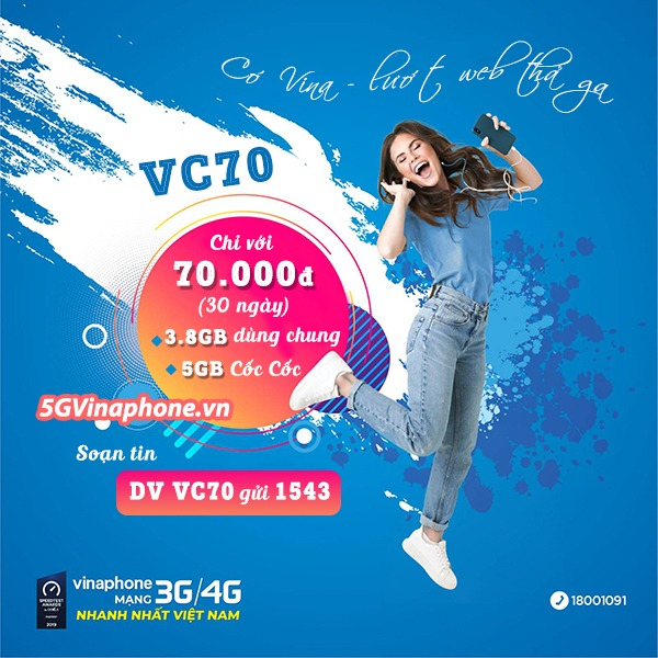 Hướng dẫn cách đăng ký gói cước VC70 Vinaphone