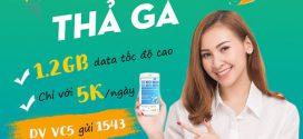 Đăng ký gói cước VC5 Vinaphone 5K nhận 1.2GB data tốc độ cao cả ngày