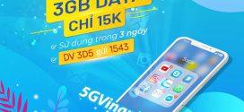 Đăng ký gói cước 3D5 Vinaphone miễn phí 3GB data chỉ 15.000đ/3 ngày