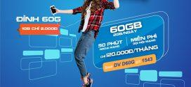 Đăng ký gói D60F Vinaphone chỉ 120k nhận 60GB data, 1550p gọi FREE