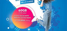 Đăng ký gói cước Đỉnh Vinaphone 60GB data, gọi FREE hàng tháng