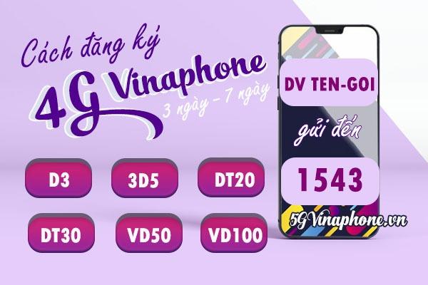 Cách đăng ký gói cước 4G vinaphone 3 ngày, 7 ngày giá tiết kiệm