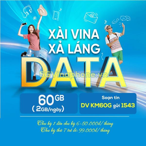 Hướng dẫn cách đăng ký gói cước Km60G Vinaphone