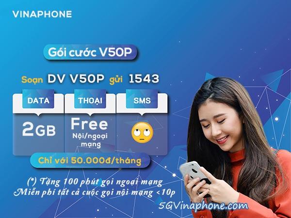Hướng dẫn cách đăng ký gói cước V50P Vinaphone