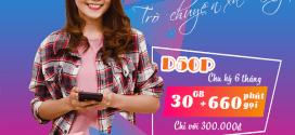 Đăng ký gói cước D50P 6T Vinaphone nhận 30GB data, Gọi Free 6 tháng