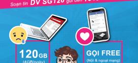 Đăng ký gói SG120 Vinaphone 120K nhận 120GB data, 2000p gọi cả tháng