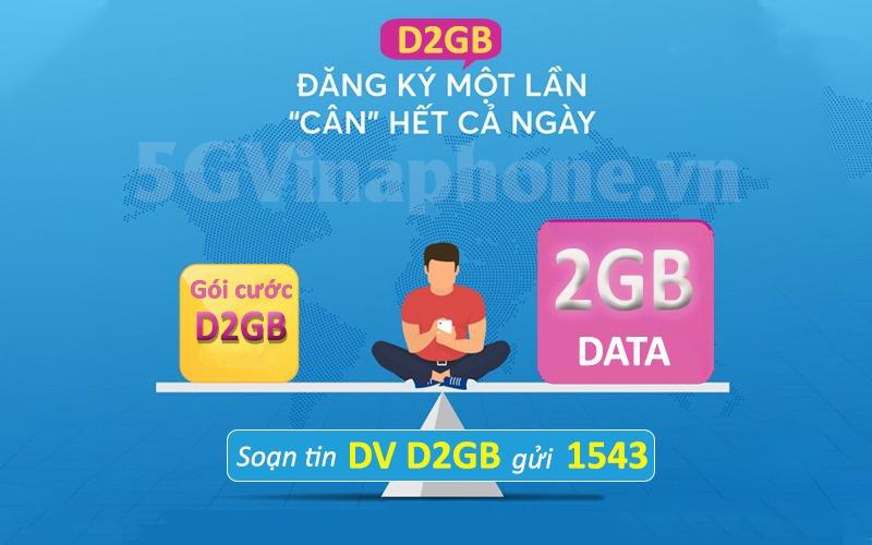 Hướng dẫn cách đăng ký gói cước D2GB Vinaphone