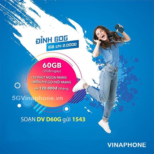 Hướng dẫn cách kiểm tra ưu đãi của gói D60G Vinaphone