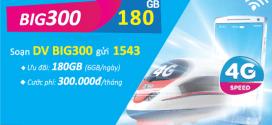 Đăng ký gói cước BIG300 Vinaphone nhận 180GB data giá chỉ 300k