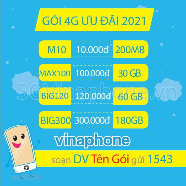 Đăng ký gói cước 4G Vinaphone trọn gói không giới hạn dung lượng giá rẻ