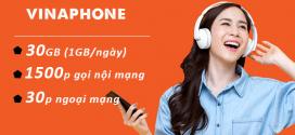 Đăng ký gói cước D30S Vinaphone Chỉ 52K nhận 30GB data, 1530p gọi Free