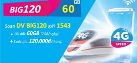 Đăng ký gói cước BIG120 Vinaphone nhận 60GB data 4G/5G chỉ 120k/tháng