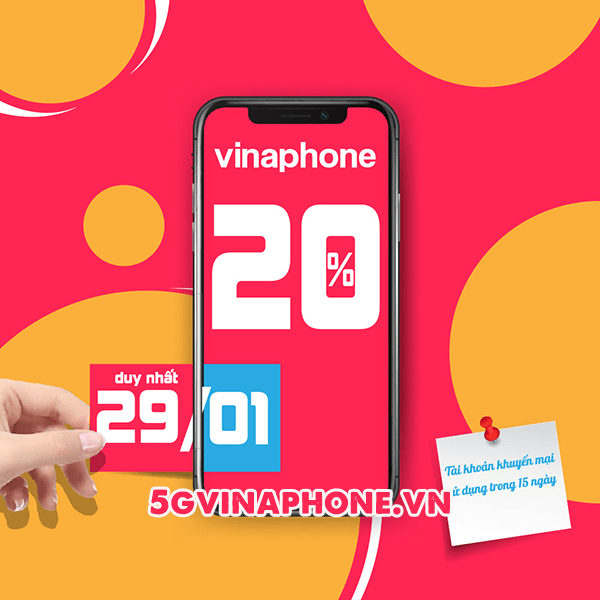 Vinaphone khuyến mãi ngày 29/1/2021 ưu đãi ngày vàng toàn quốc