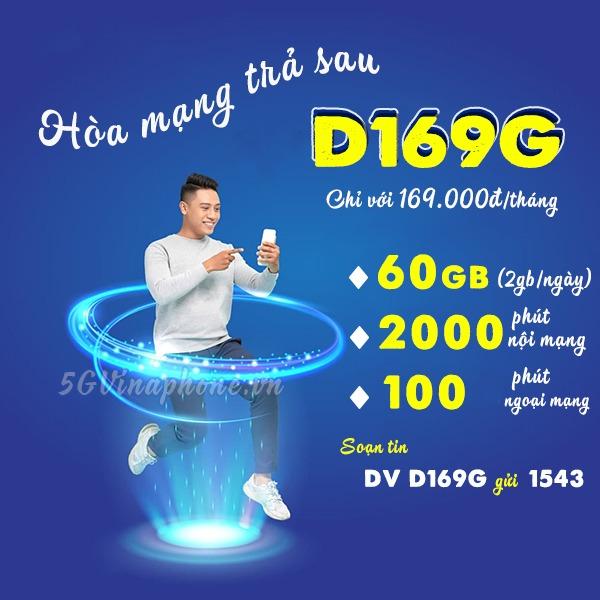 Đăng ký gói cước D169G Vinaphone nhận data, gọi Free thả ga cả tháng