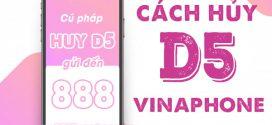 Cách hủy gói cước D5 Vinaphone đơn giản chỉ với 1 tin nhắn qua 888