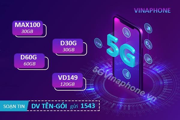 Các gói cước 5G Vinaphone ưu đãi khủng cho thuê bao trả sau