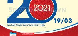 Khuyến mãi Vinaphone 19/3/2021 NGÀY VÀNG tặng 20% tiền nạp