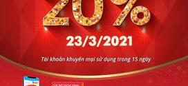 Khuyến mãi Vinaphone 23/3/2021 ưu đãi 20% tiền nạp cho TB may mắn