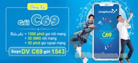 Đăng ký gói cước C69 Vinaphone MIỄN PHÍ 1530p gọi và 30SMS