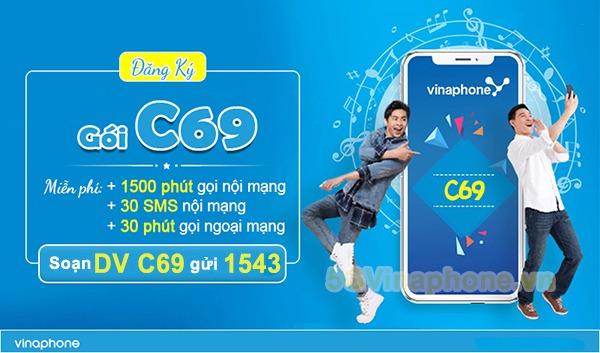 Cách đăng ký gói cước C69 Vinaphone tặng số phút gọi và SMS nhắn tin miễn phí
