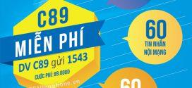 Đăng ký gói C89 Vinaphone nhận 1500p gọi + 60SMS chỉ 89k/tháng