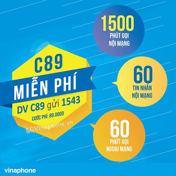 Đăng ký gói cước C89 Vinaphone nhận khuyến mãi gọi và nhắn tin thả ga