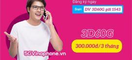 Đăng ký gói 3D60G Vinaphone tặng 2GB/ngày, gọi Free thả ga 3 tháng