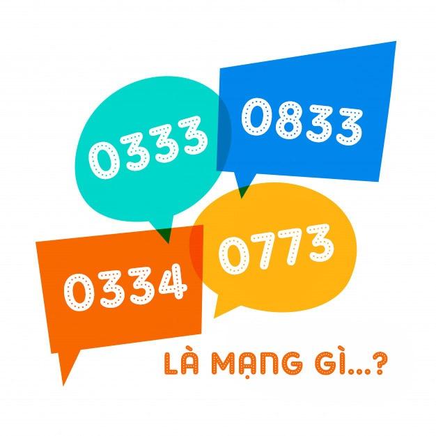 Đầu số 0333, 0343, 0773, 0833 là mạng gì?