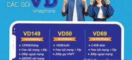Tổng hợp các gói cước VD Vinaphone ưu đãi DATA, Thoại, SMS siêu khủng