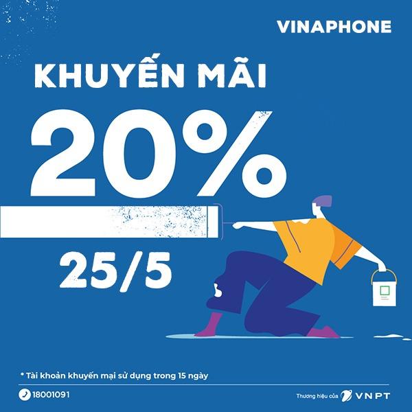 Khuyến mãi Vinaphone ngày 25/5/2021 ưu đãi cho TB may mắn